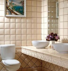 фаянс за баня с малък размер